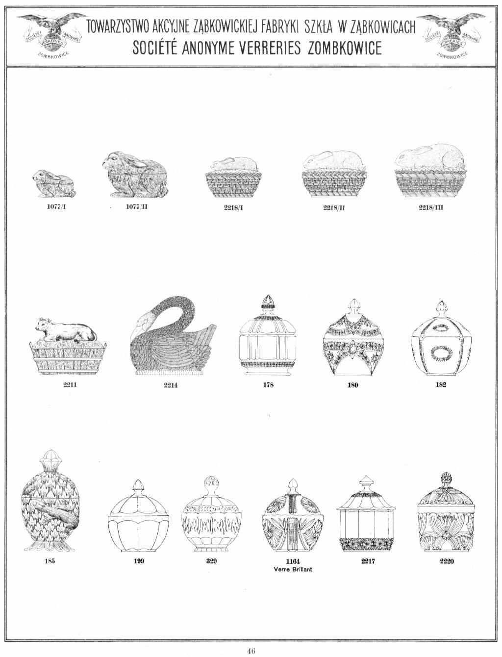 Zabkowice 1920 Muster Bucher Katalog Glas