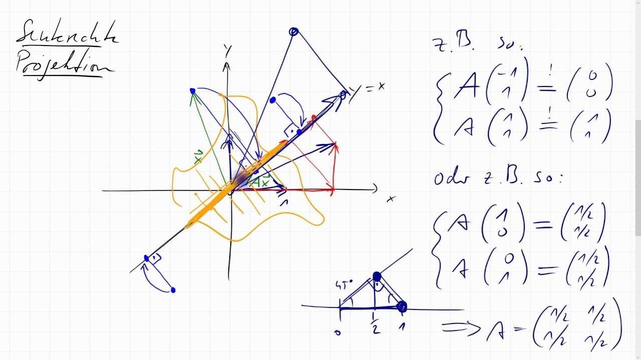05e 3 Matrix Fur Senkrechte Projektion Davon Bild Rang Kern Defekt Determinante Quadrat Youtube