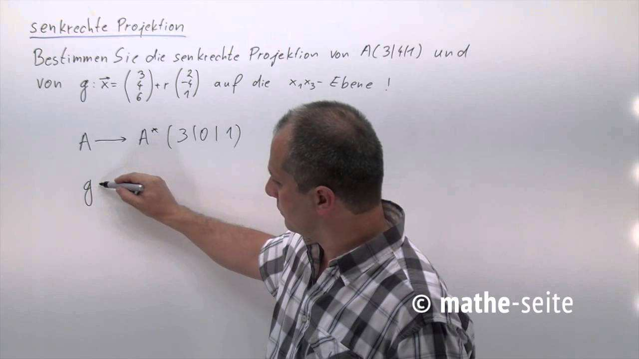 Senkrechte Projektion Auf Koordinatenebene Oder Auf Koordinatenachse Beispiel 1 V 09 03 Youtube
