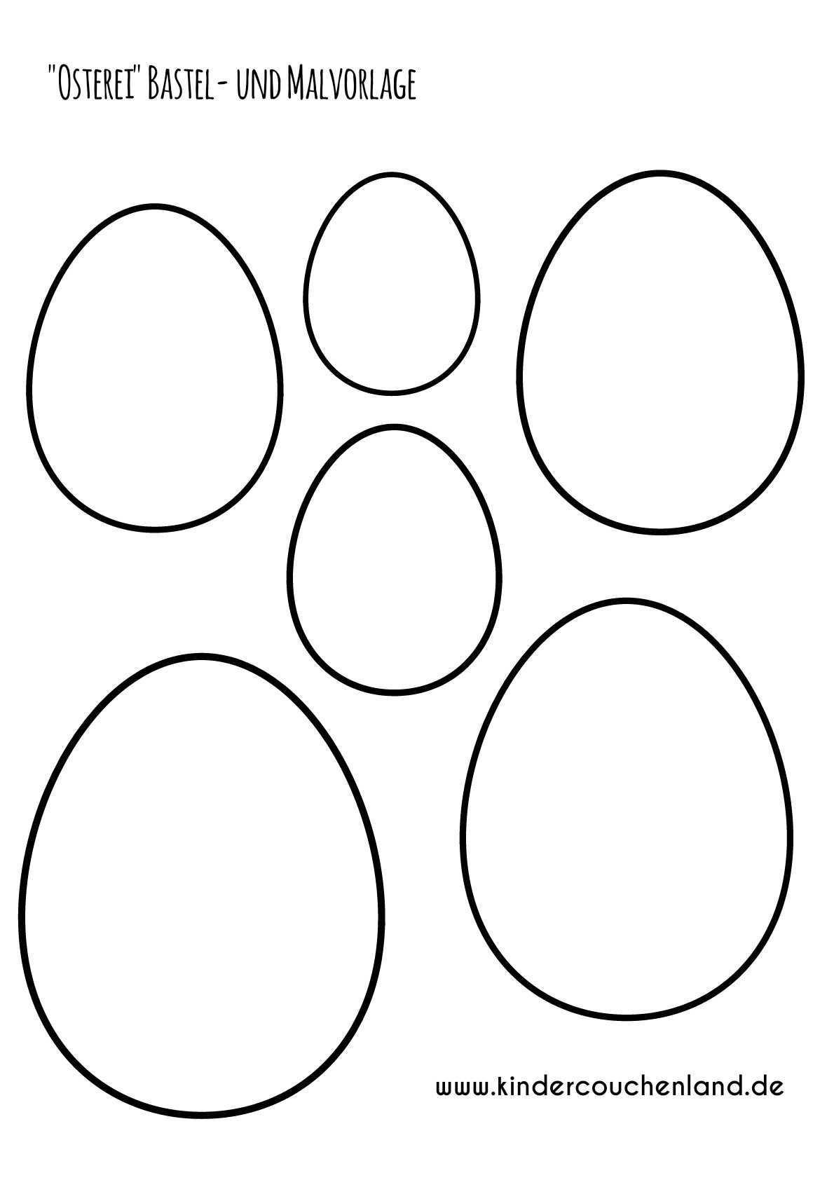 Osterei Bastel Und Malvorlage Ostereier Basteln Ostern Geschenke Basteln Osternest Basteln Vorlagen