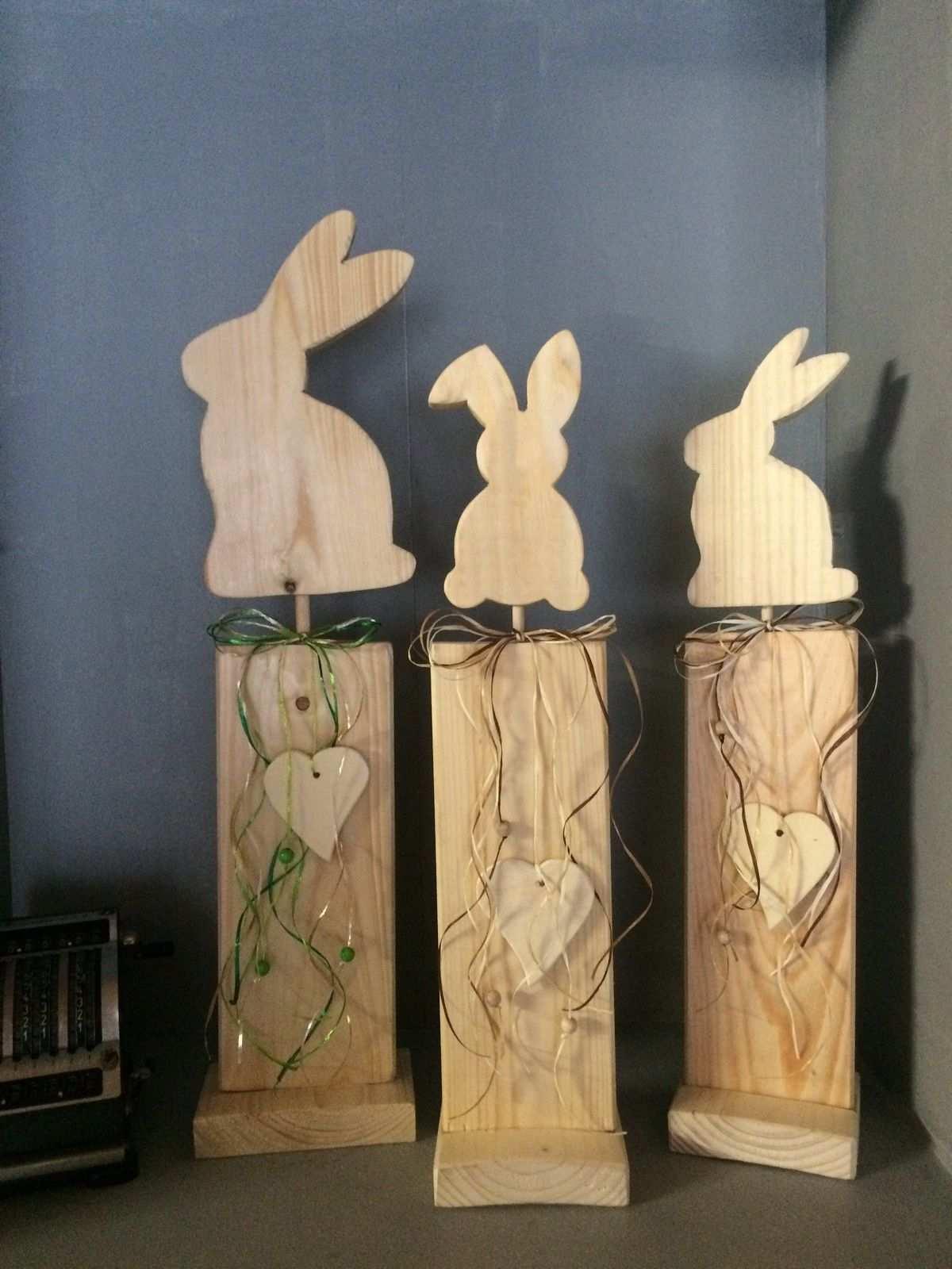 Shabby Chic Hase Ostern Deko Ausverkauf Handarbeit Ostern Deko Ostern Basteln Holz Dekoration
