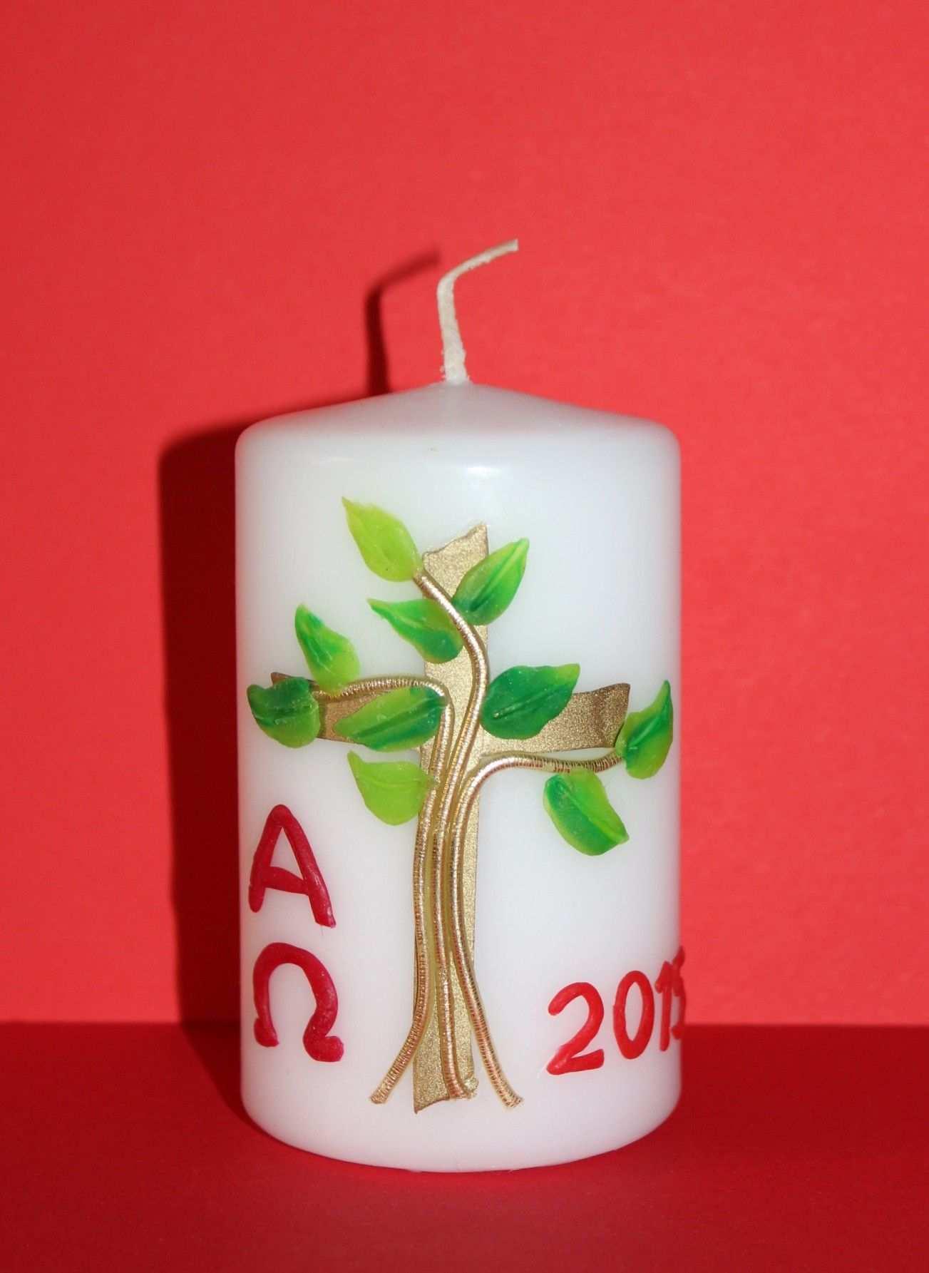Osterkerze Baum Kerzen Verzieren Kerzen Basteln Kerzen Gestalten