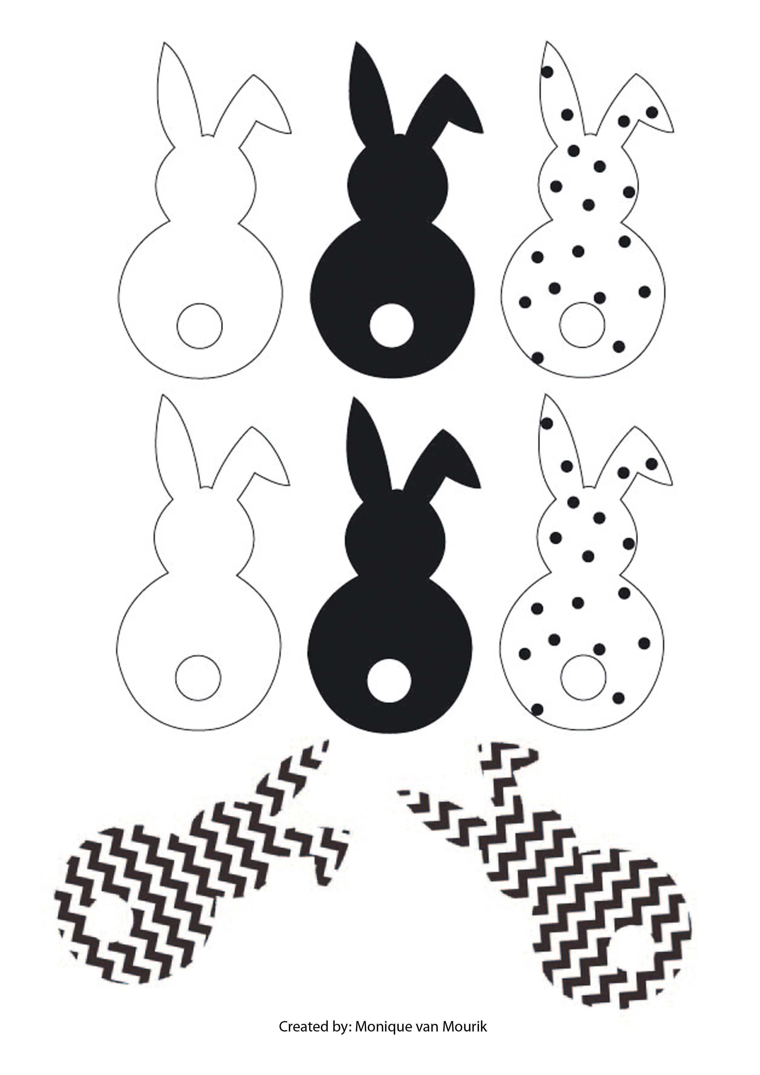 Easter I Ostern Osterdeko Osterhasen Girlande Freebie Monique Van Mourik Ostern Ostern Vorlagen Basteln Fruhling Ostern