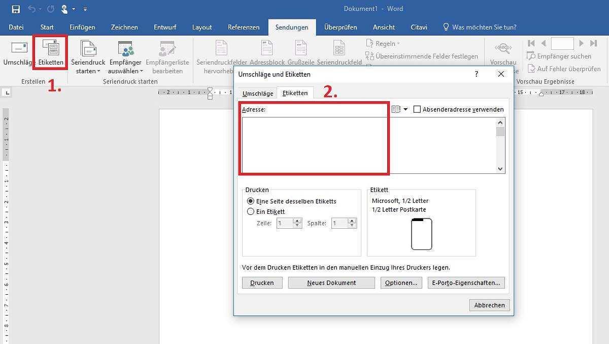 Etiketten Erstellen In Word So Funktioniert S Focus Online