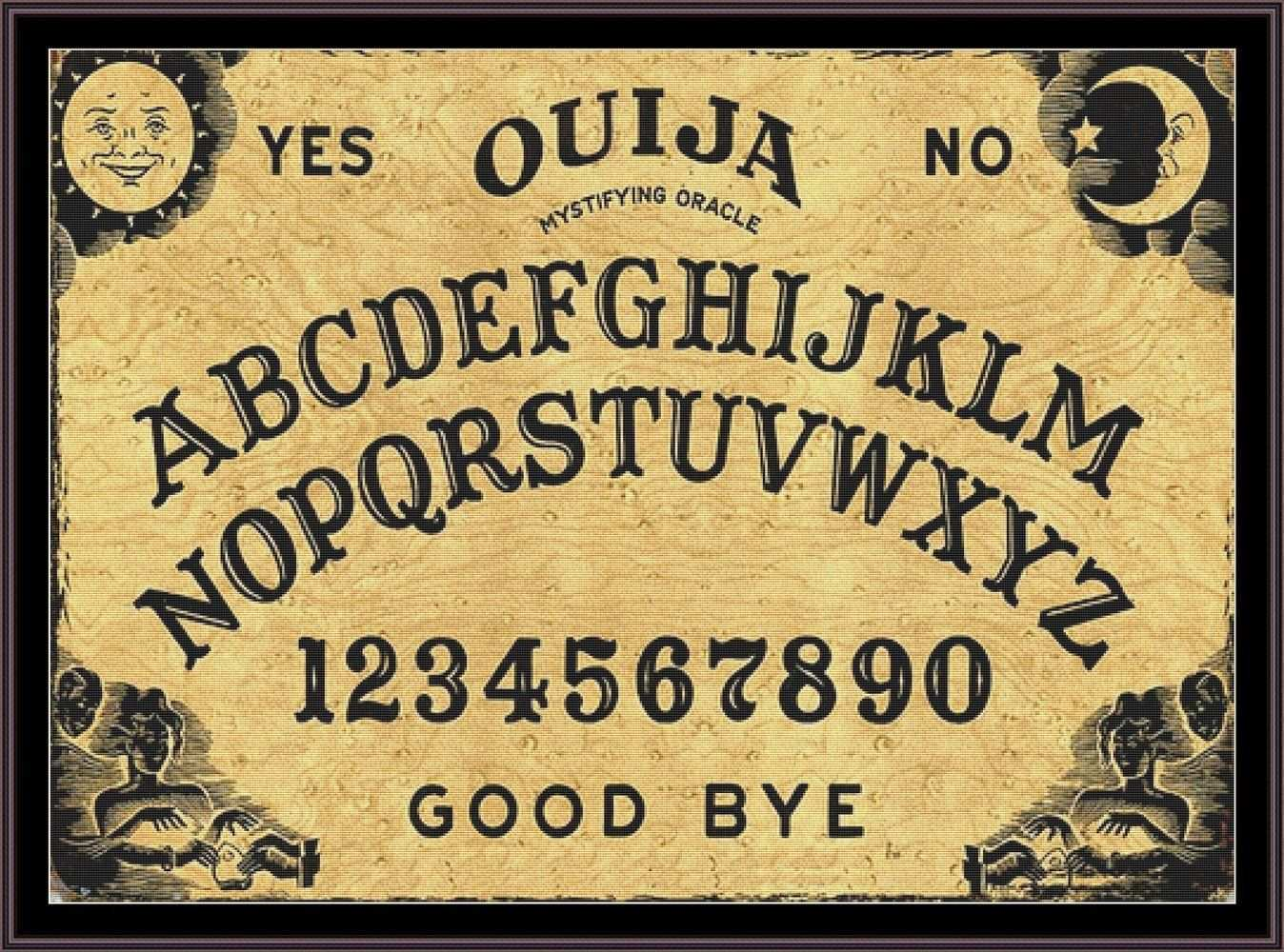 Ouija Board Large Cross Stitch Pattern Chart By Unconventionalx On Etsy Large Cross Stitch Patterns Ouija Cross Stitch Patterns