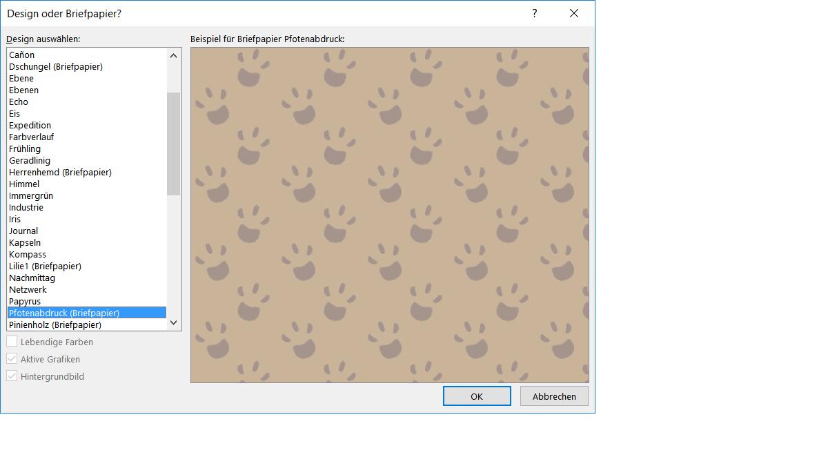 Outlook 2016 Neues Briefpapier Erstellen Office Anwendungen Paules Pc Forum Windows Community