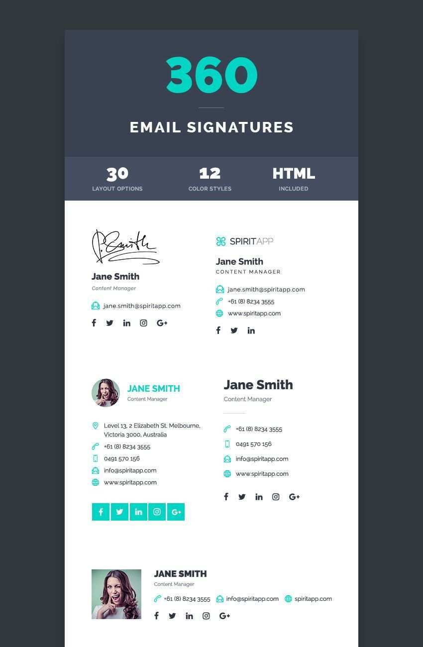 12 Professional Email Signature Templates With Unique Designs Email Signature Templates Email Signature Design Email Signatures