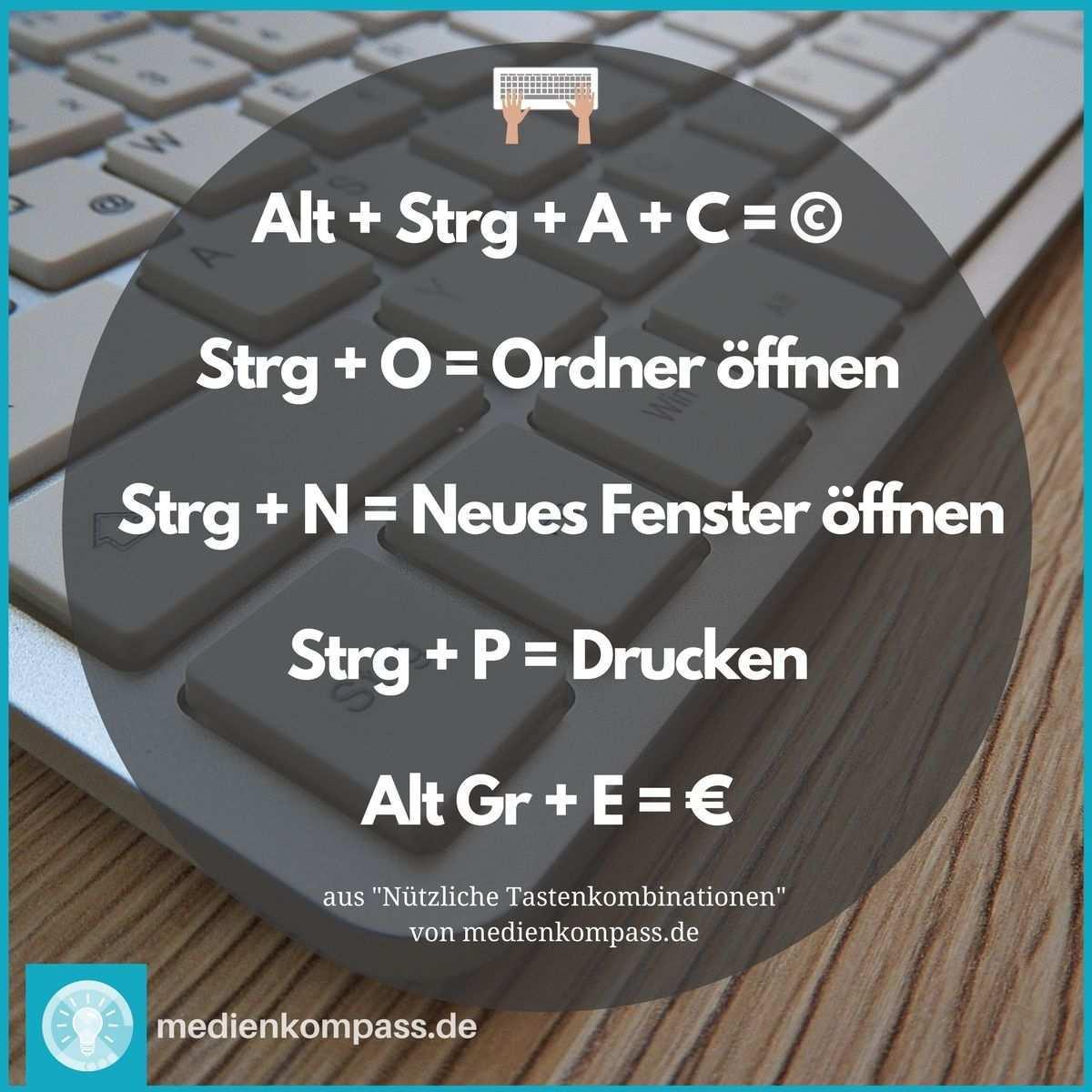 Als Tastenkombination Oder Neu Deutsch Shortcut Bezeichnet Man Das Gedruckthalten Bestimmter Tasten Um Einen Bef Excel Tipps Computer Tastatur Tastaturkurzel