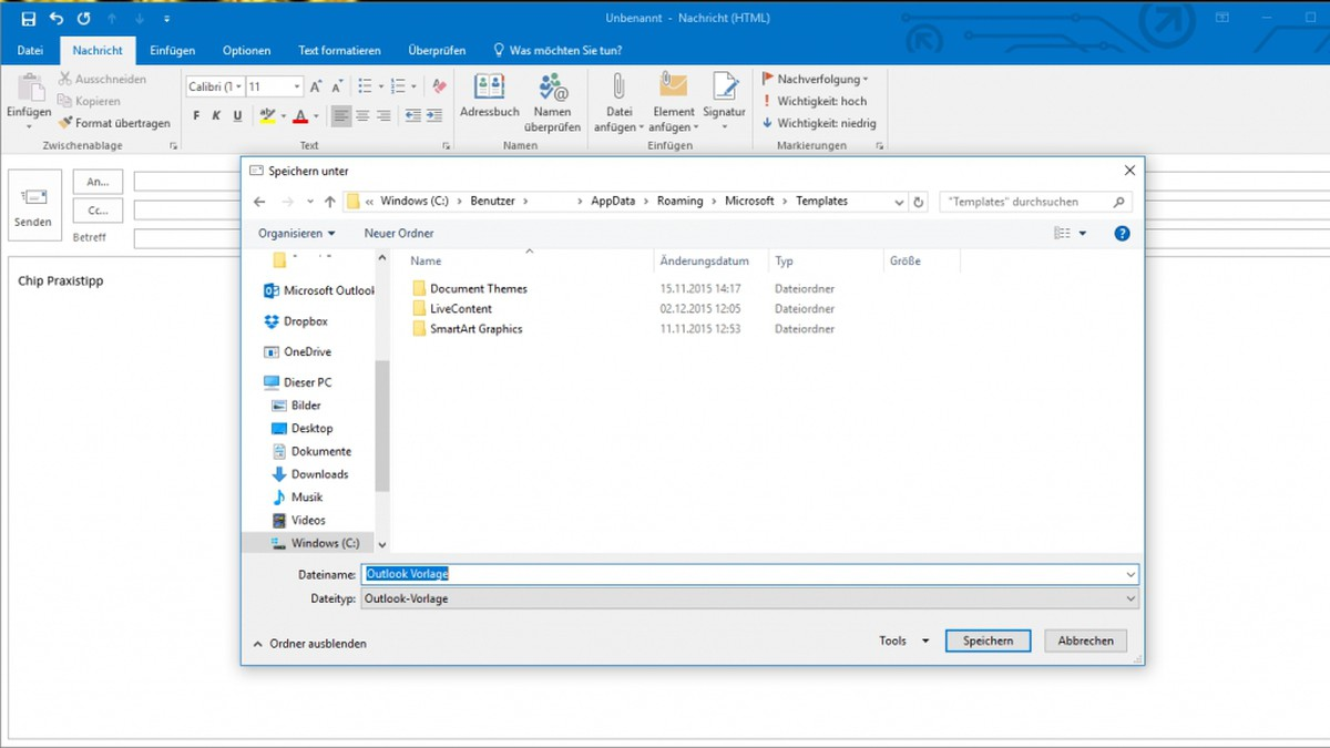 Outlook Vorlage Fur E Mails Erstellen So Gehts Chip