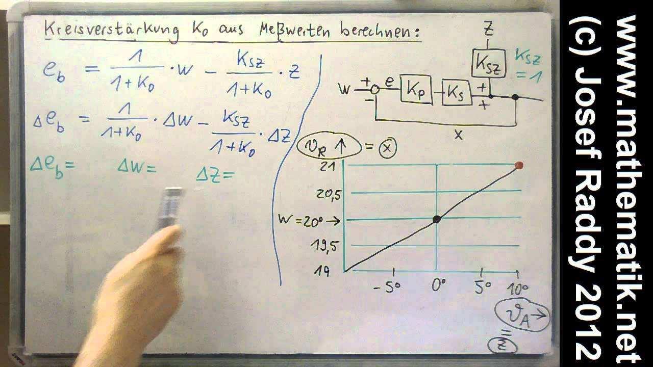 P Regler Beispiel Heizung Kreisverstarkung Berechnen Mit Formel Fur Regeldifferenz Youtube