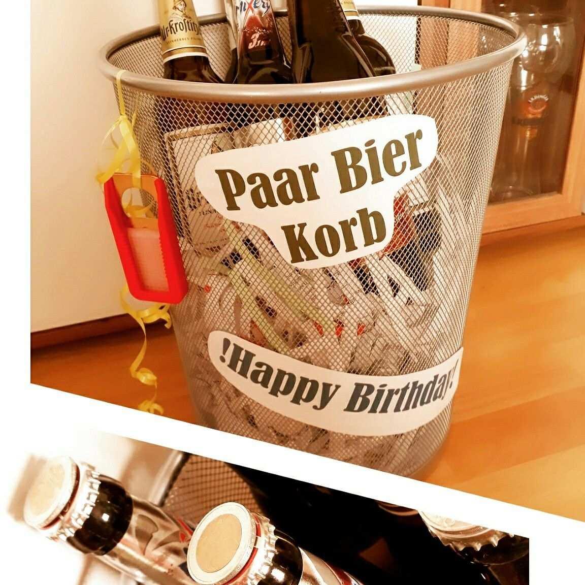 Paar Bier Korb Geschenke Verpacken Geburtstag Kinder Geschenke Verpacken Geburtstag Geschenke