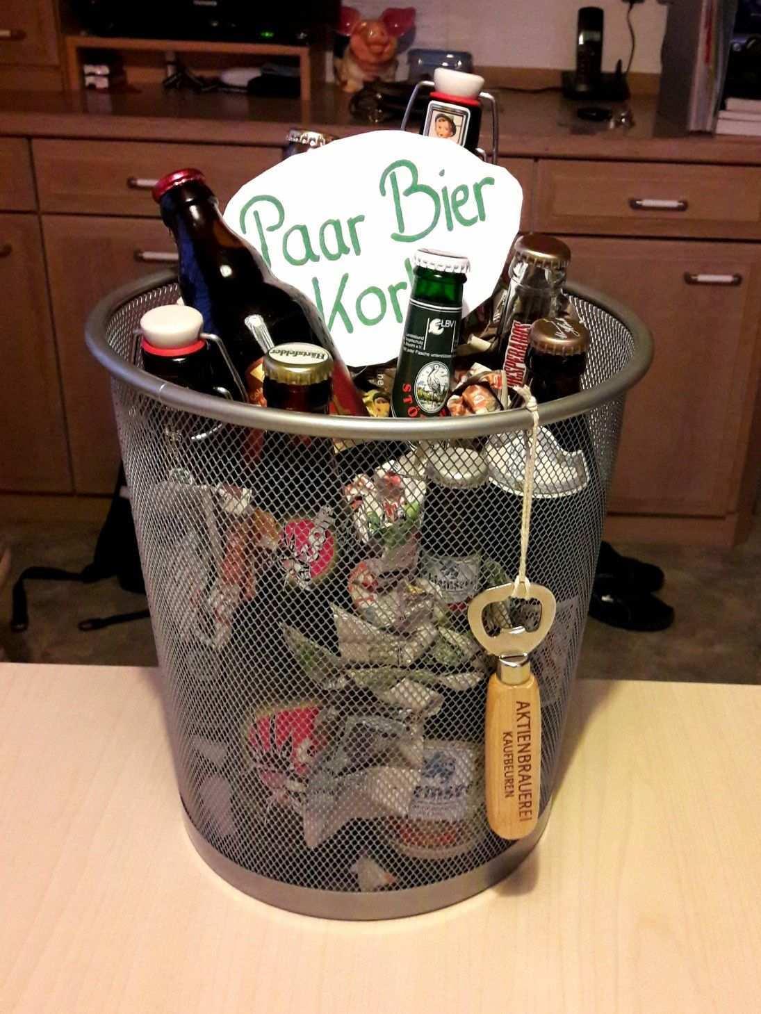 Uber Einen Paar Bier Korb Zum Geburtstag Freut Sich Jeder Mann Geburtstags Geschenk Mann Geschenke Zum Geburtstag Bierkorb