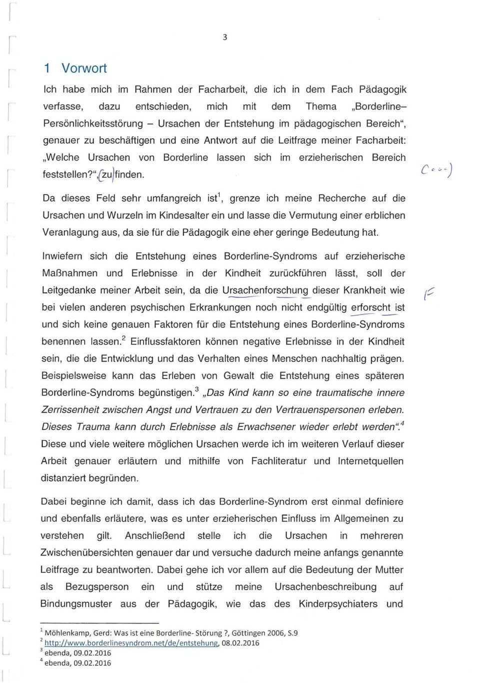 Facharbeit Im Fach Padagogik Borderline Personlichkeitsstorung Ursachen Der Entstehung Im Padagogischen Bereich Pdf Free Download