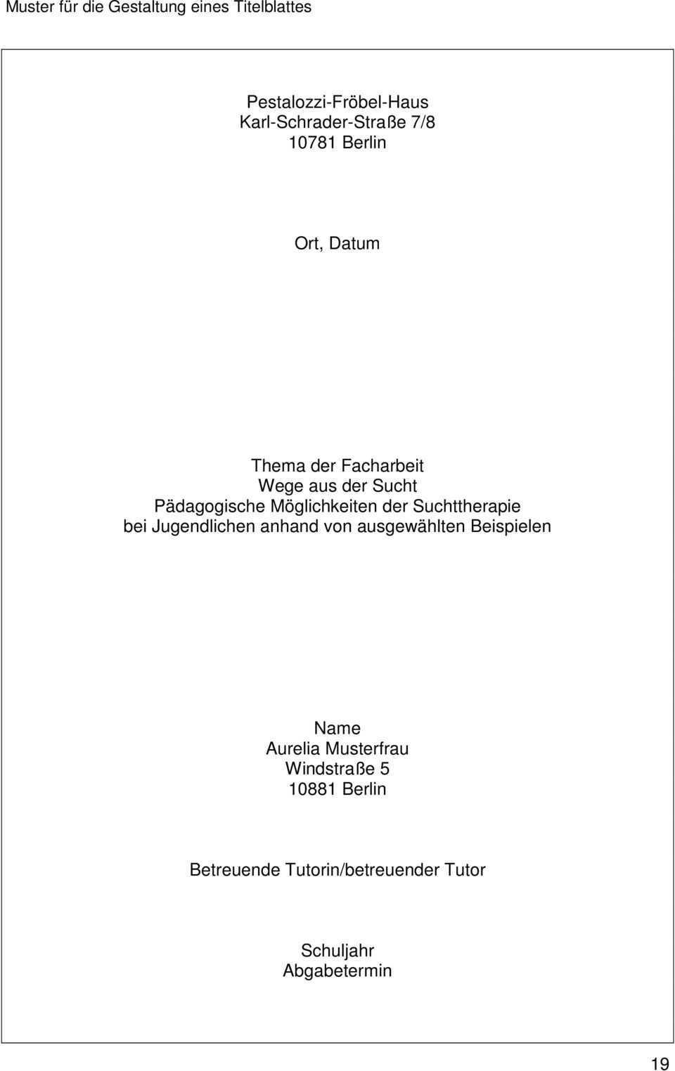 Fachschule Fur Sozialpadagogik Leitfaden Zum Erstellen Der Facharbeit Jahrgang F4 Pdf Free Download