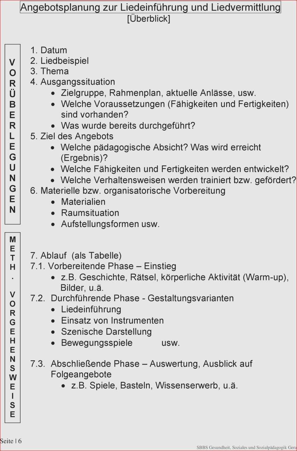 31 Im Trend Schriftliche Planung Eines Angebotes Im Kindergarten Design Ideen Rahmenplan Erzieherin Angebote