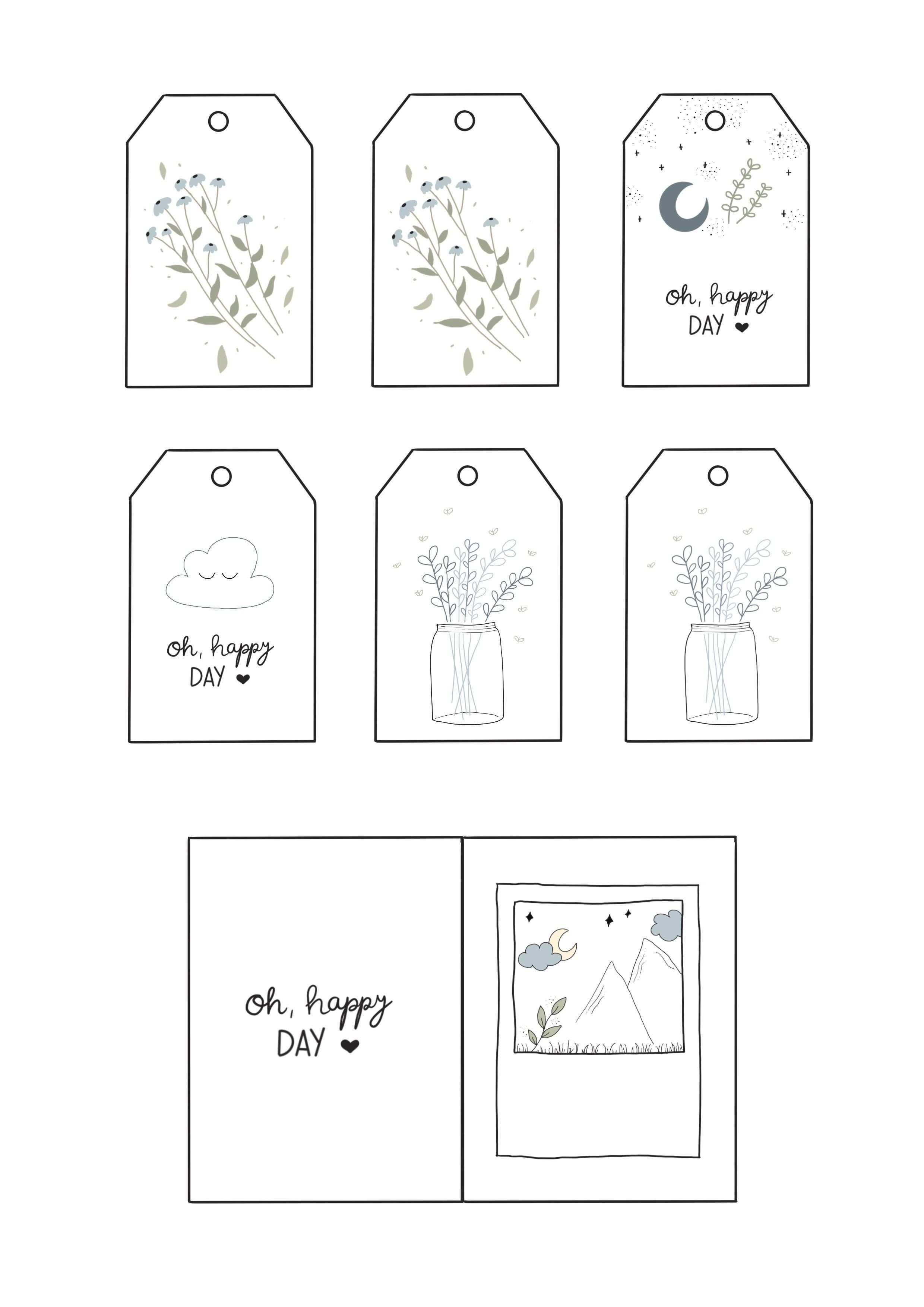 Kostenlose Vorlage Zum Ausdrucken Fur Dich Gift Tags Spring Crafts Prints