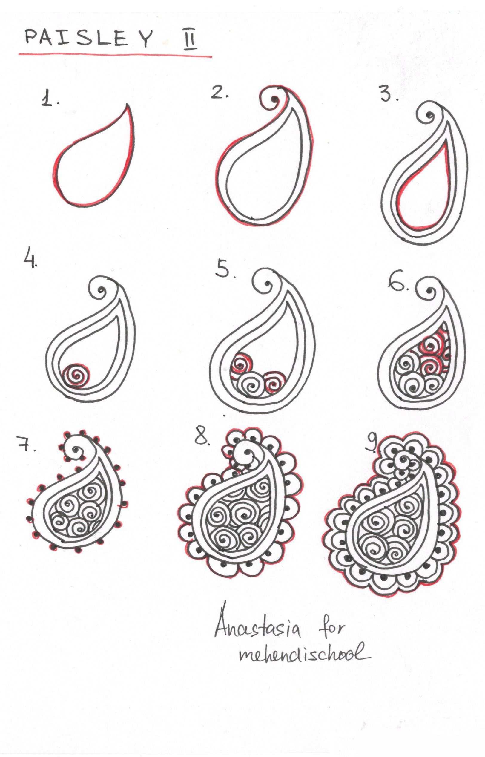 How To Draw Indian Mehndi Henna Paisley Small Tutorial Diy Henna Drawings Zentangle Patterns Henna Tutorial