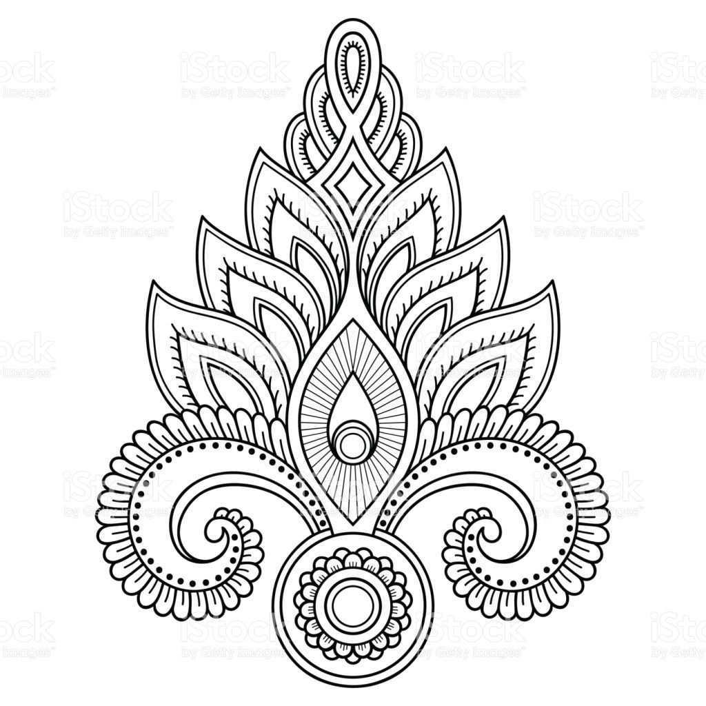 Henna Tattoo Blume Vorlage Im Indischen Stil Ethnische Floralen Paisley Lotus Mehndi Stil Ornamentales Muster I Indischer Stil Tattoo Henna Blumen Vorlage