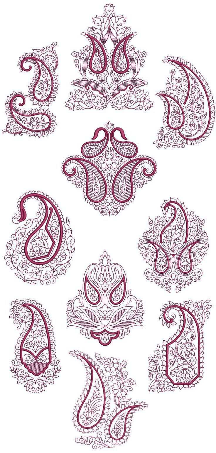 Paisley Machine Embroidery Patterns Paisley Embroidery Machine Embroidery