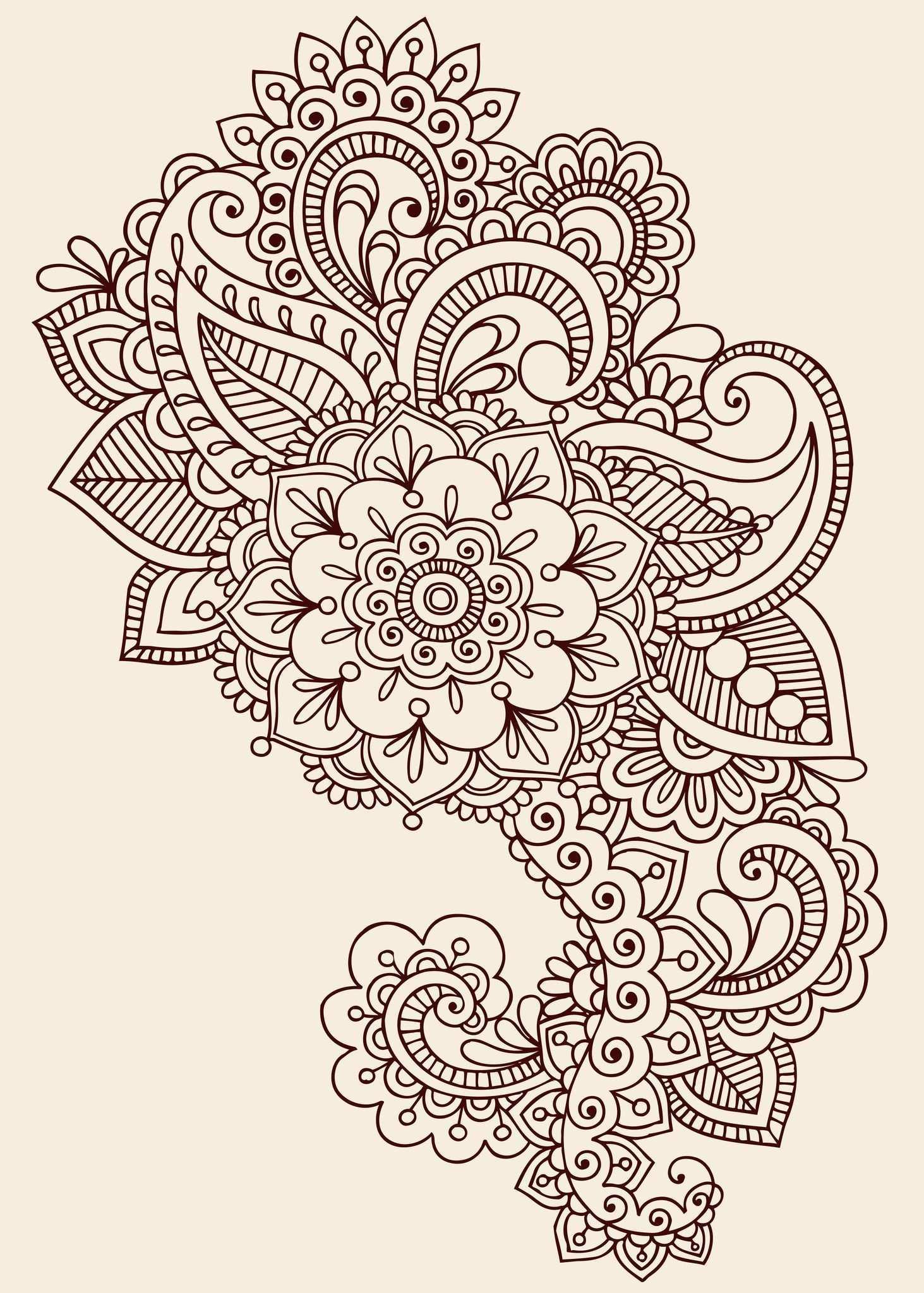 Paisley Designs Paisley Henna Tattoo Design Paisley Doodle Doodle Design Henna Tatowierung