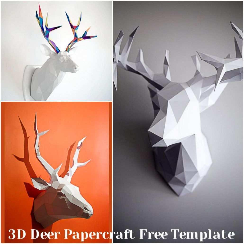 3d Deer Papercraft Free Template Free Download Paper Template Free Paper Template Free Printable Paper Crafts