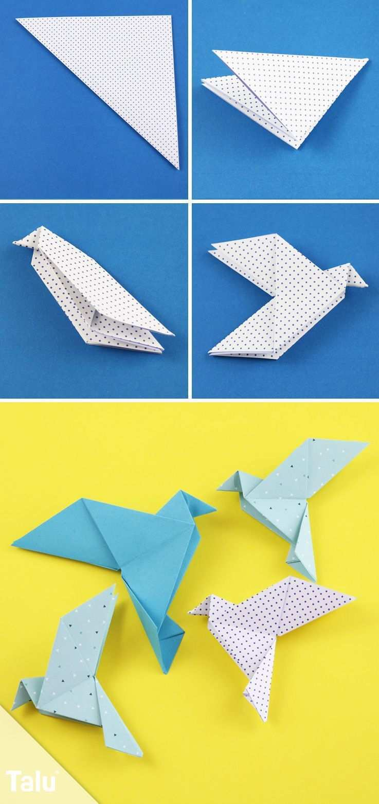 Kostenlose Faltanleitung Origami Taube Falten Talu De Origami Origami Origami Anleitungen Origami Vogel