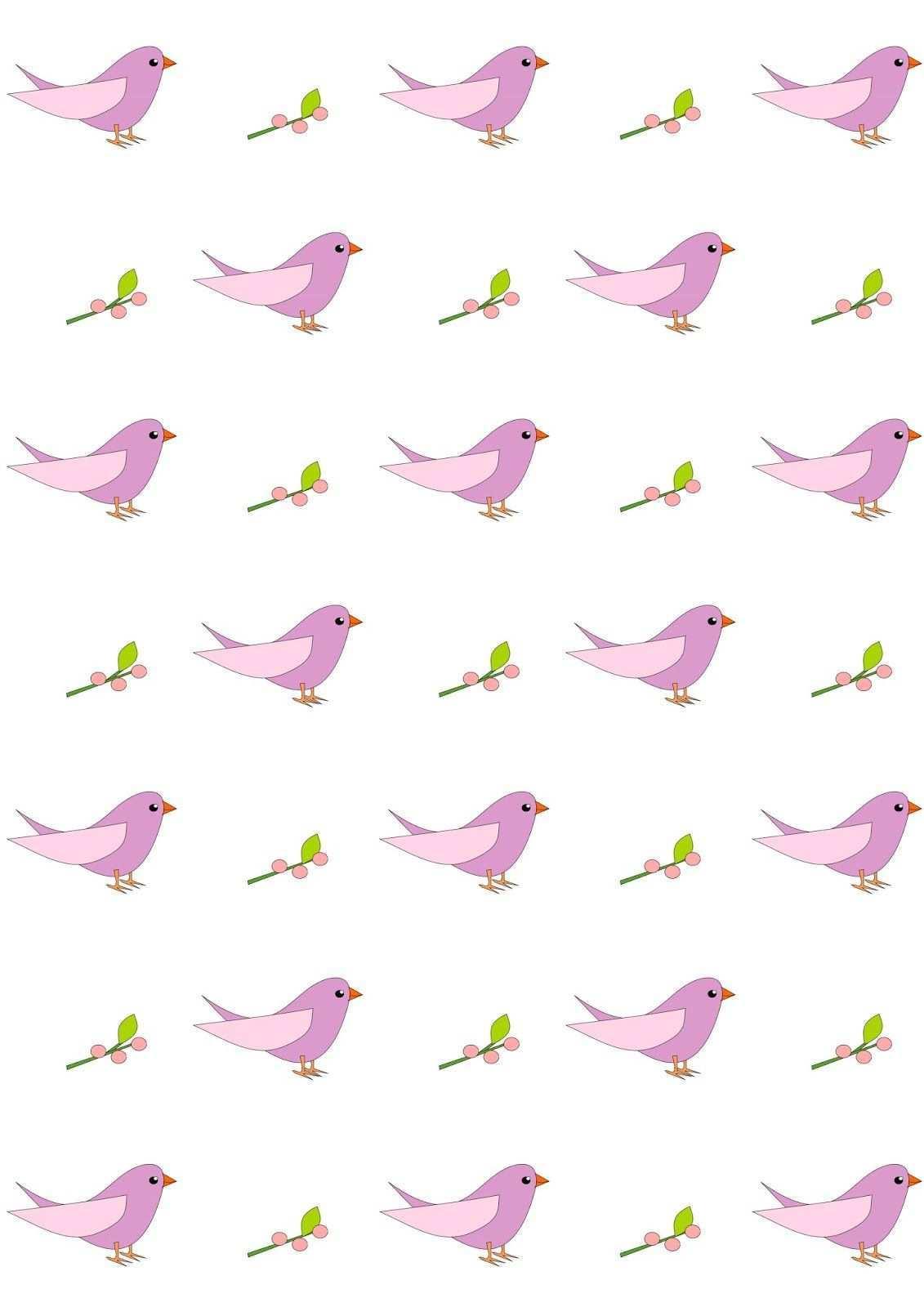 Free Digital Nursery Bird Scrapbooking Paper Ausdruckbares Geschenkpapier Freebie Digital Paper Free Printable Scrapbook Paper Baby Scrapbook Paper