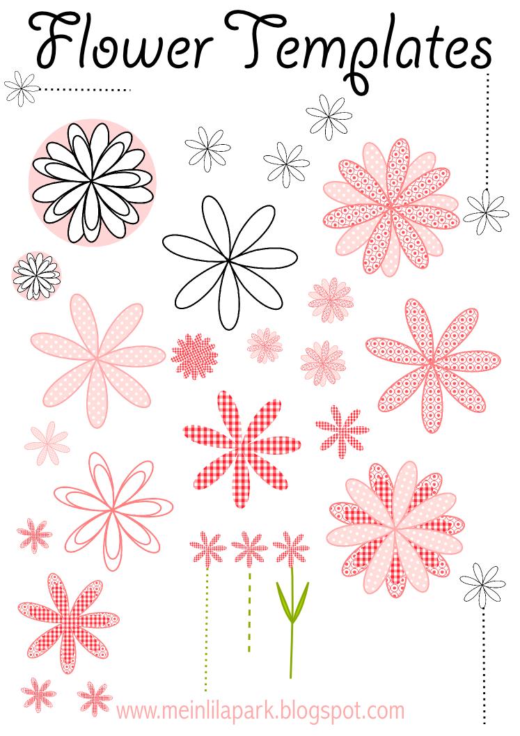 Free Printable Flower Templates Ausdruckbare Blumen Schablone Freebie Blumen Schablone Schablonen Blumen Aus Papier