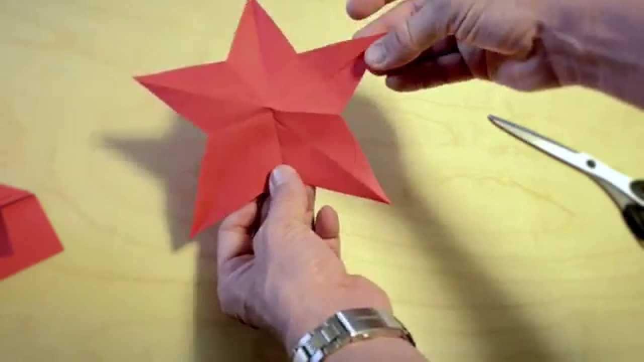 Einen Stern Ausschneiden Mit Einem Schnitt Svens Lifehacks Srfdgst Vorlage Stern Sterne Aus Papier Schneiden Sterne