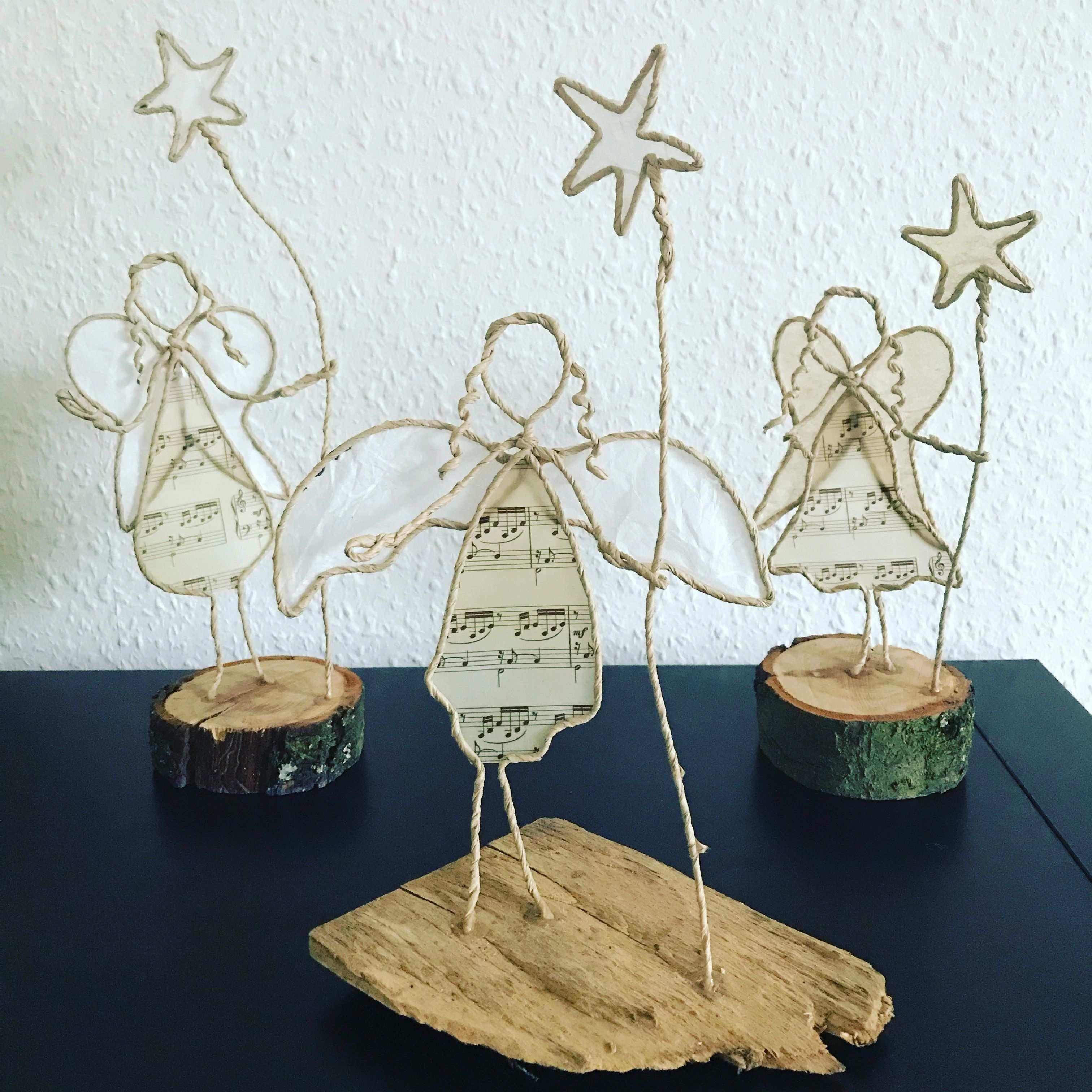 Papierdrahtfiguren Engel Basteln Weihnachten Draht Weihnachten Basteln Engel Papierskulptur