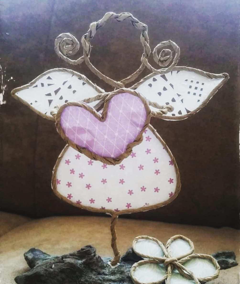 Wunsche Euch Eine Gute Erholsame Nacht Und Susse Traume Engel Papier Papierdraht G Basteln Mit Papierdraht Basteln Weihnachten Draht Basteln Mit Draht