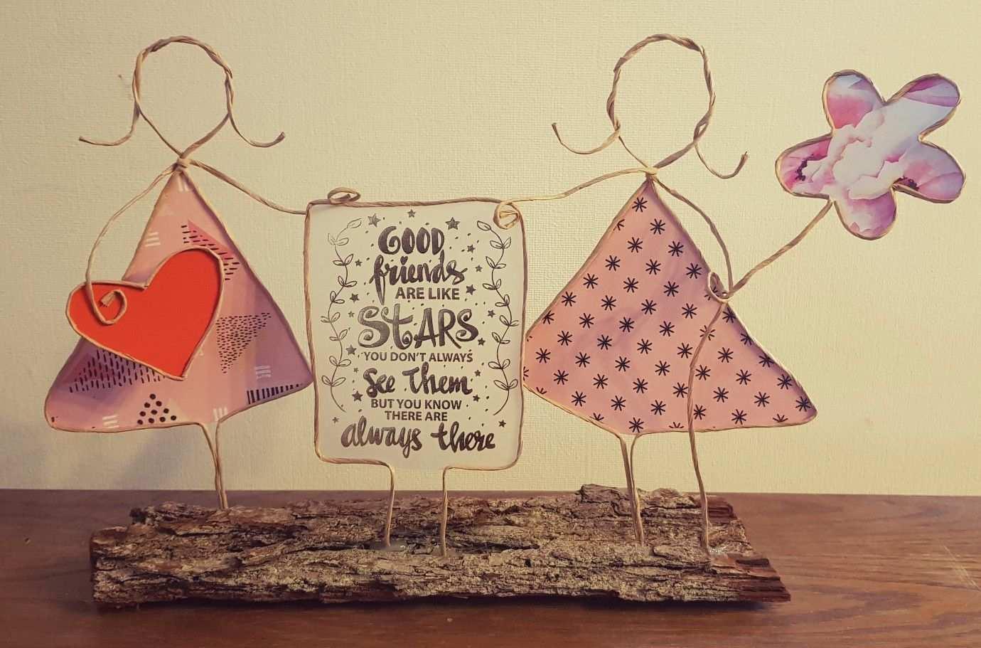 Freundinnen Aus Papierdraht Basteln Mit Papierdraht Basteln Mit Draht Basteln