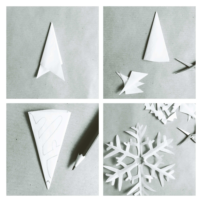 Winterkind Schneesterne Schneiden Diy Lieblingsbande Schneeflocken Basteln Schneestern Sterne Falten Weihnachten