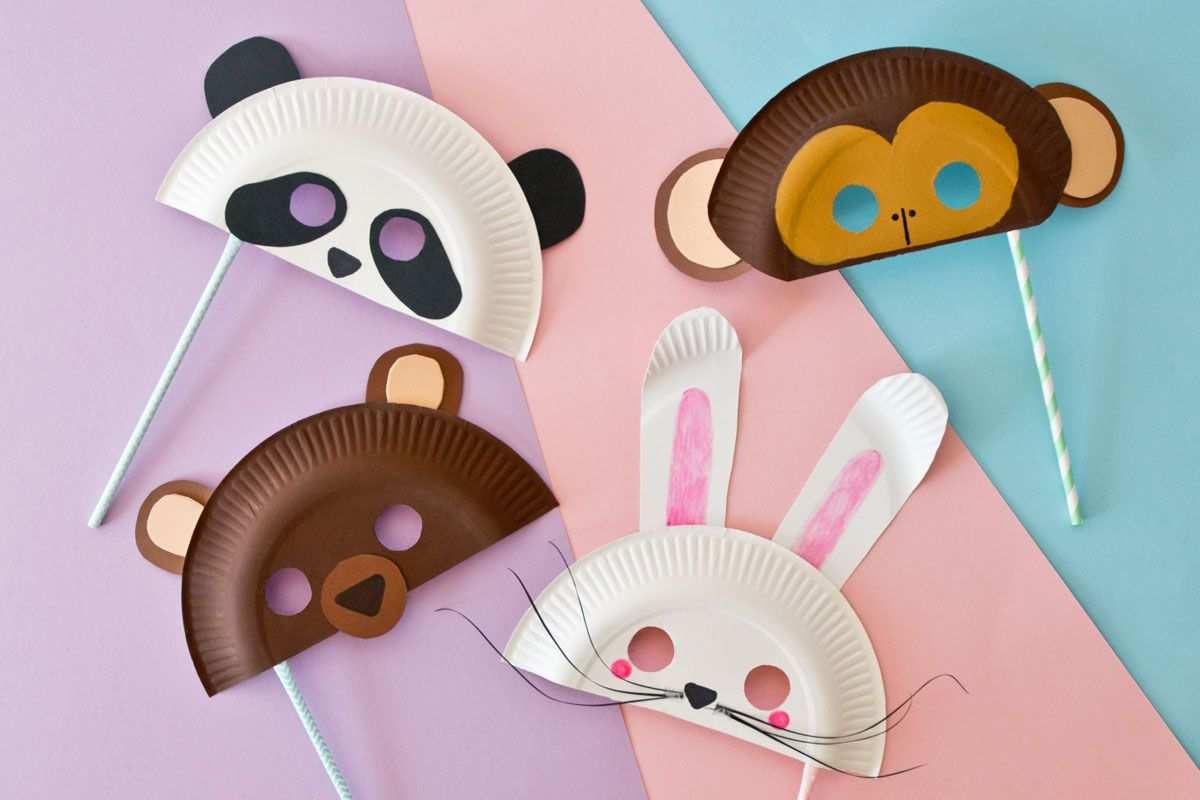 Tiermasken Basteln Fur Fasching Bar Panda Hase Oder Affe Familie De Tiermasken Basteln Faschingsmasken Basteln Fasching Basteln