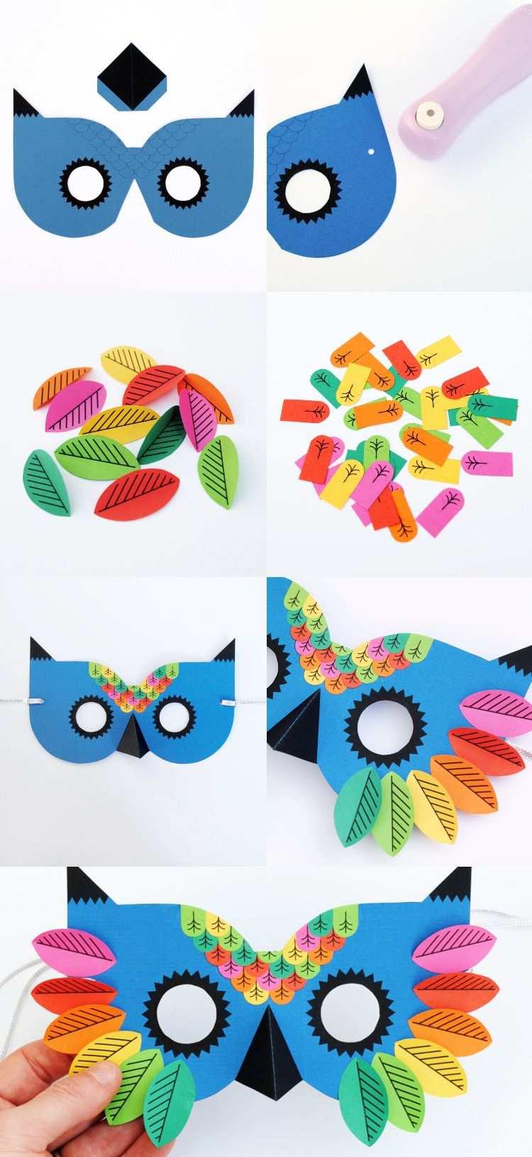 Masken Basteln Fur Kinder 22 Ideen Und Vorlagen Zum Ausdrucken Masken Basteln Tiermasken Basteln Faschingsmasken Basteln