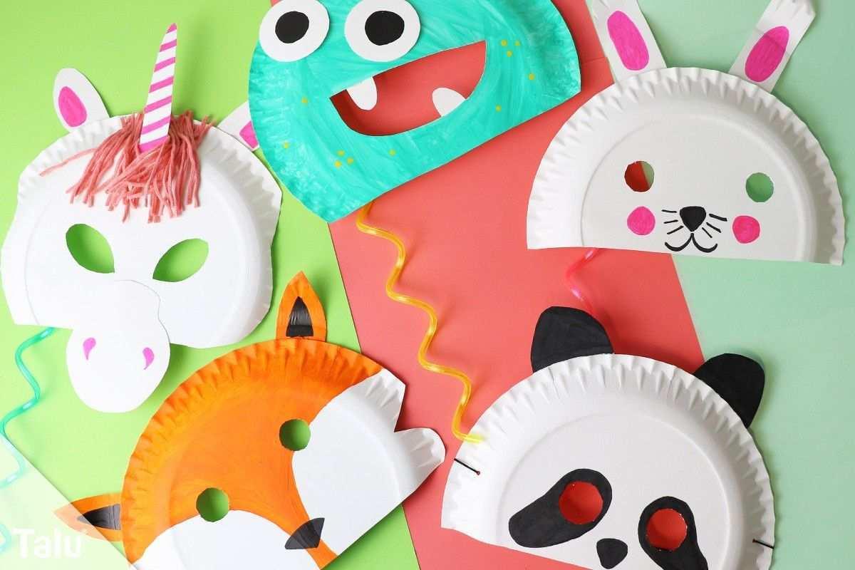 Faschingsmasken Basteln Anleitung Kindermasken Aus Pappteller Talu De Faschingsmasken Basteln Faschingsmasken Faschingsmasken Basteln Pappteller