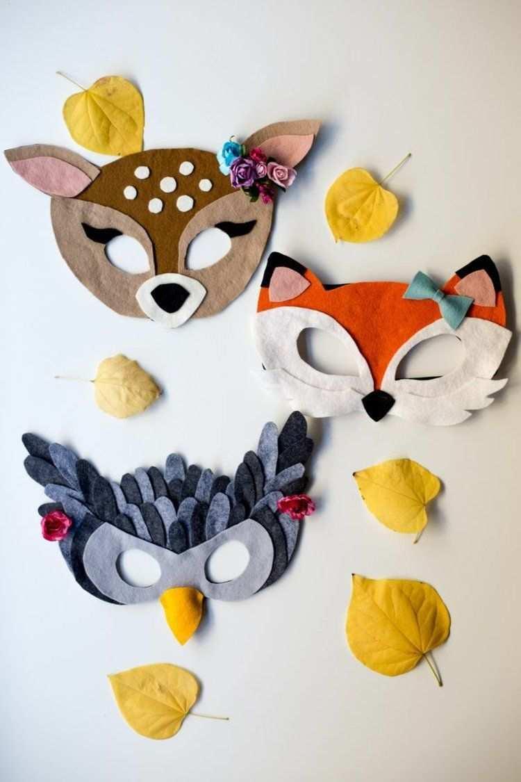 Basteln Sie Fuchse Rehe Und Eulen Tiermasken Basteln Faschingsmasken Basteln Tiermasken
