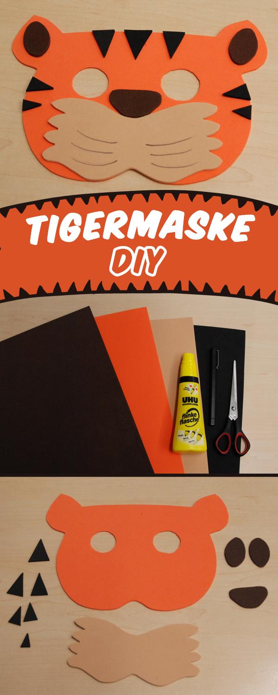 Tiger Maske Basteln Fur Fasching Familie De Masken Basteln Tiermasken Basteln Fasching Basteln