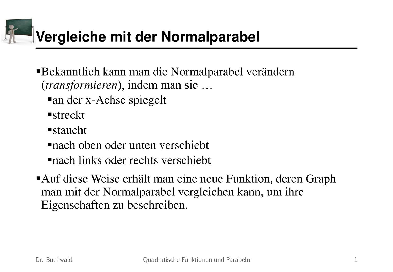 Parabeln Vergleiche Mit Der Normalparabel Mathematik Unterrichtsmaterial Im Fach Mathematik Mathematik Mathematikunterricht X Achse