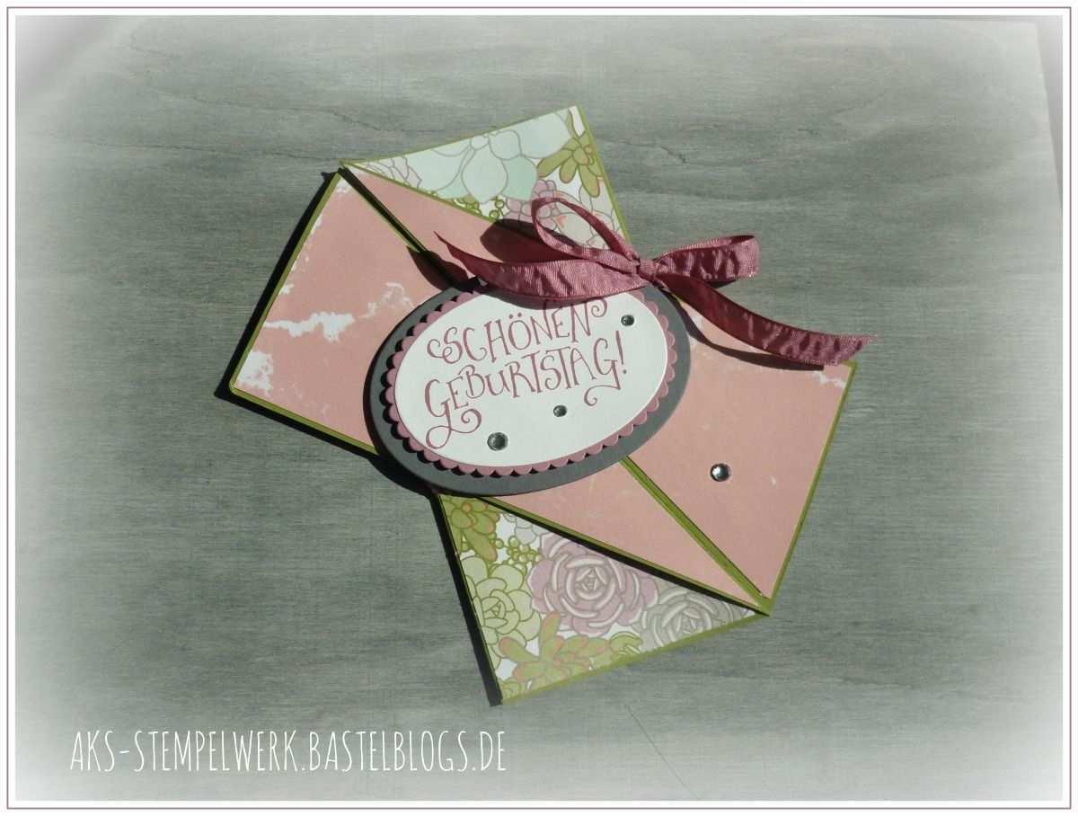 Origami Geburtstagskarte Und Geschenktute Mit Glitzerschriftzug Geburtstagskarte Karten Handgefertigte Karten