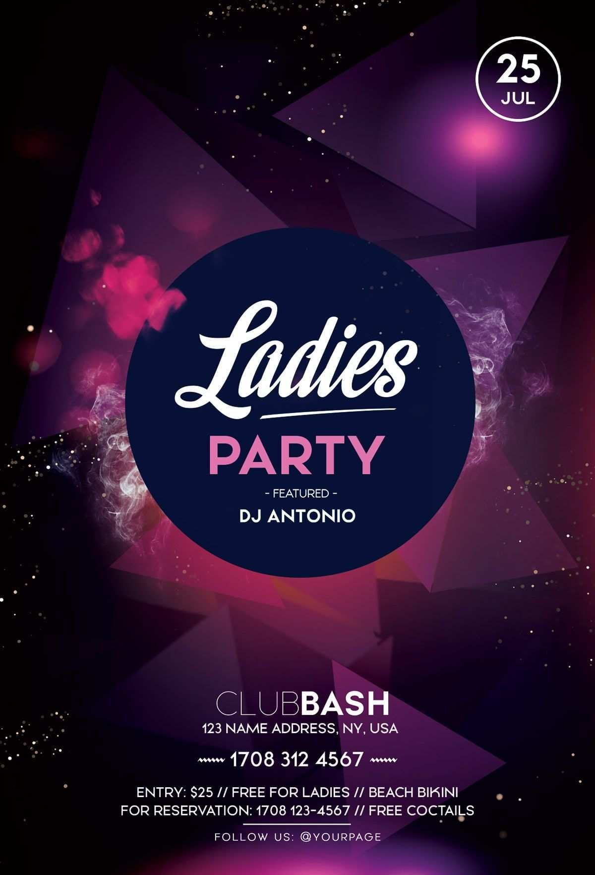 Ladies Party Psd Free Flyer Template Free Psd Photoshop Flyer Freepsd Freeflyer Ladiesflye Free Psd Flyer Templates Free Flyer Templates Free Psd Flyer