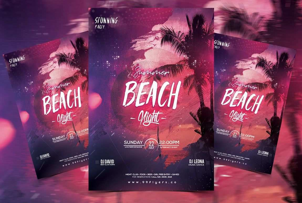 All White Party Flyer Template Fresh Tropical Summer Free Psd Flyer Template Psdflyer In 2020 Free Psd Flyer Templates Free Psd Flyer Psd Flyer Templates