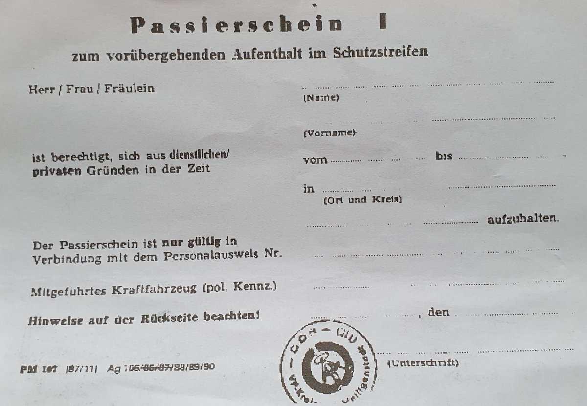 Andreas Pechtold Su Twitter Passierschein Vorlage Fur Bayern Hier Aus Ddr Wg Aufenthalt Im Schutzstreifen Auf Antrag