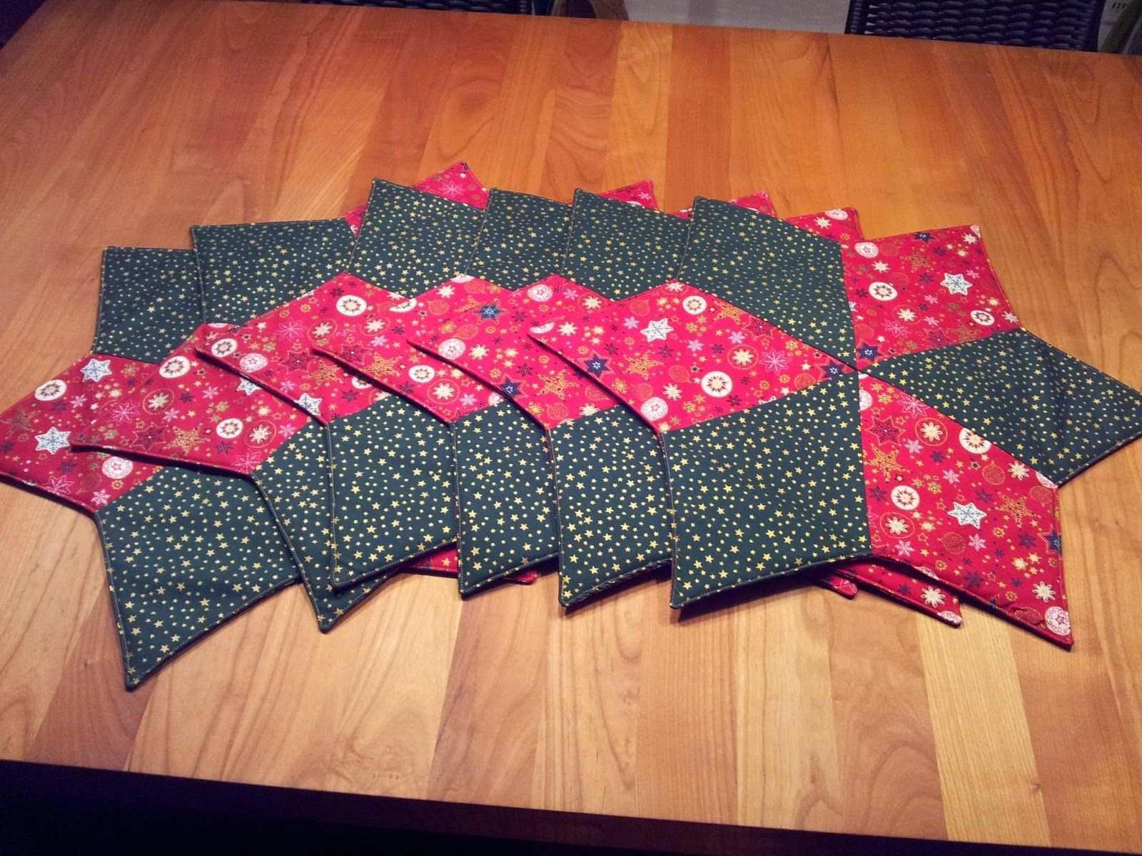 Tischset Stern Patchwork Anleitung Fotoanleitung Tutorial Weihnachten Weihnachtliche Tischsets Weihnachtsdeko Aus Stoff Fotoanleitung Tischset