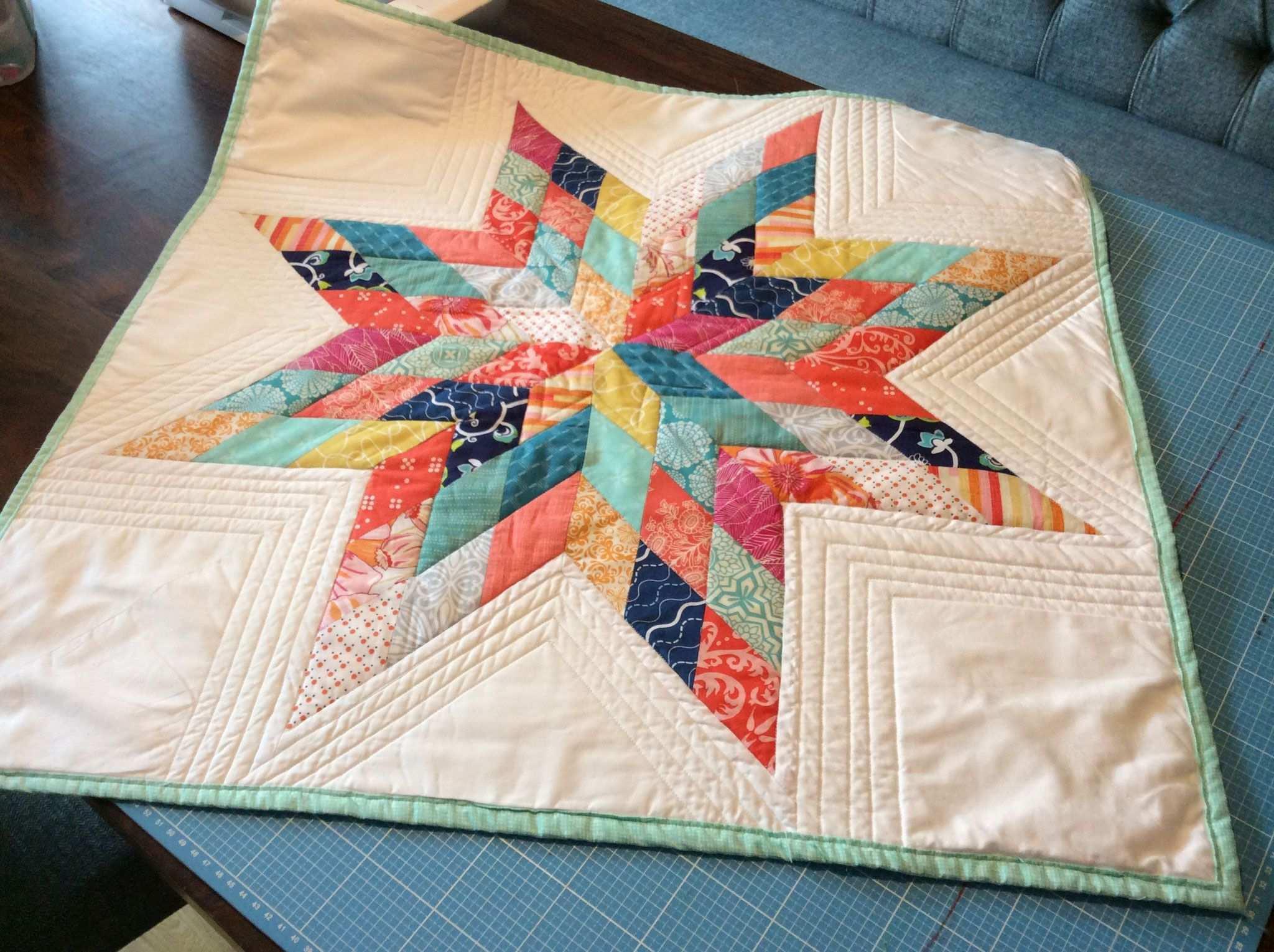 Patchwork Stern Muster Aus Rauten Quilt Von Antje Schmidt Nach Einer Vorlage Von Quilt Textilkunst Patchwork Und Quilten Quilt Quiltmuster