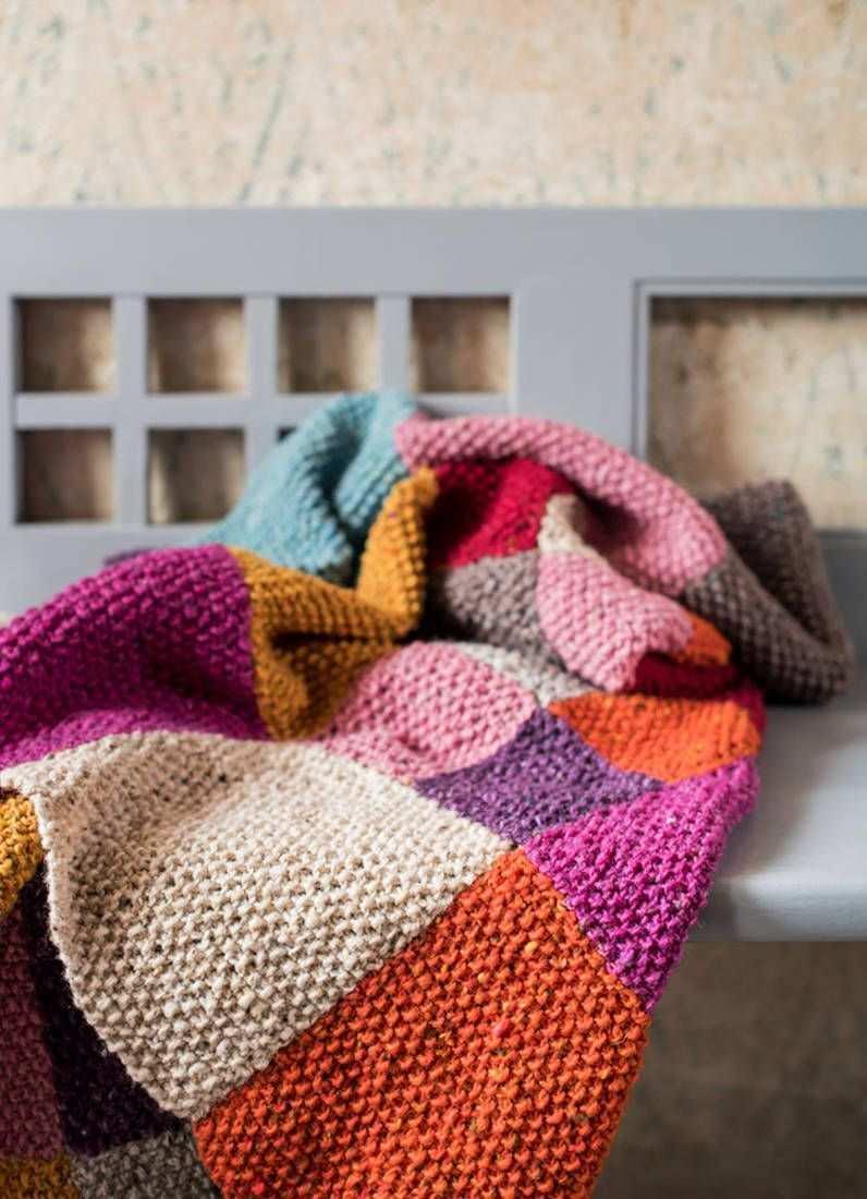 Landlust Strickset Patchwork Decke Patchwork Blanket Knitting Patterns Diy Knitting