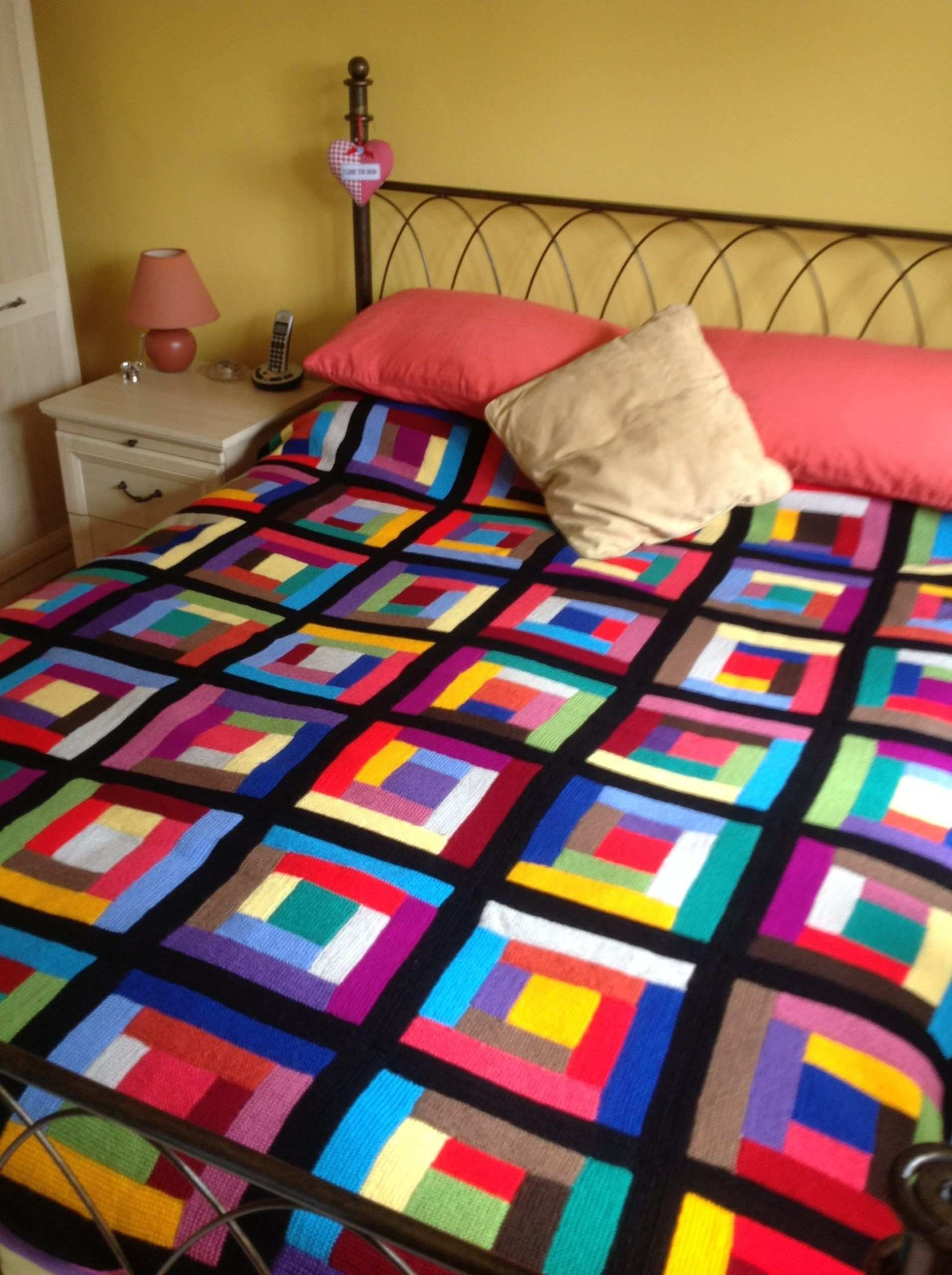 Cabin Log Design In 2020 Knitted Blankets Knitting Projects Blanket Log Cabin Quilt Pattern