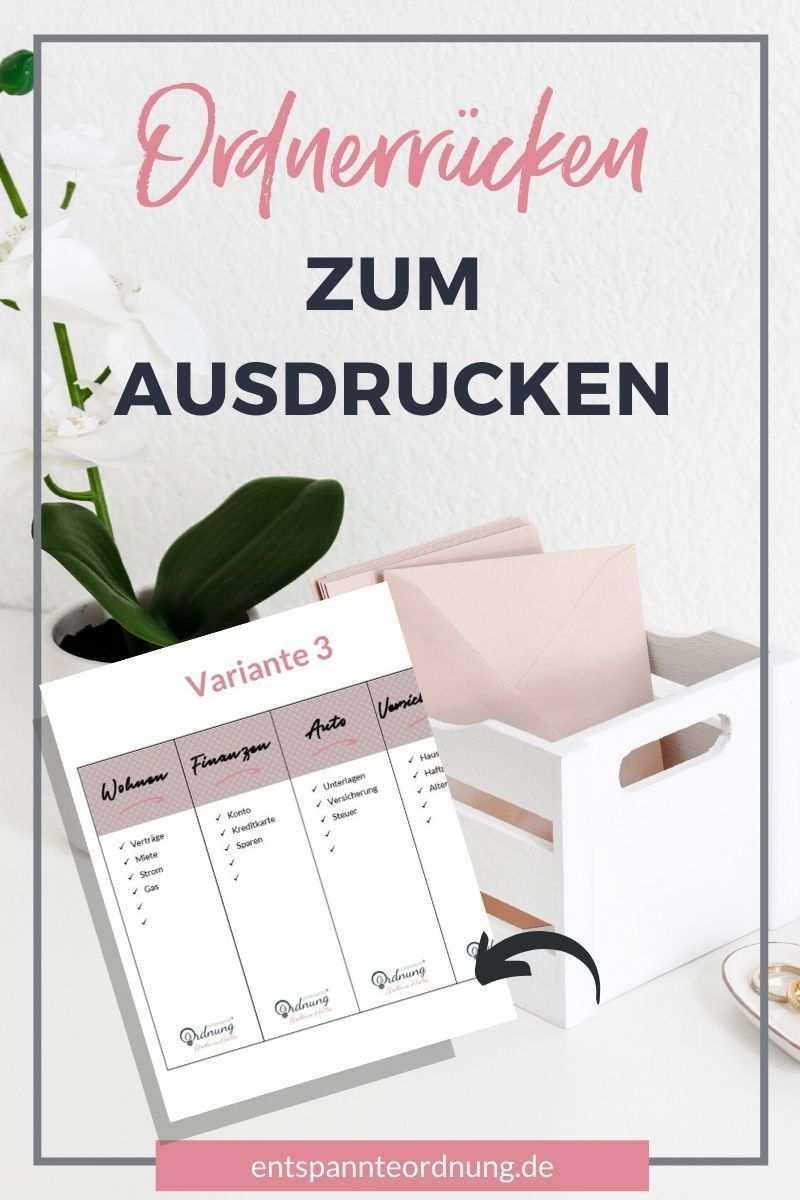 Ordnerrucken Word Pdf Kostenlose Vorlage Zum Download Ordnerrucken Vorlage Ordnerrucken Ordner