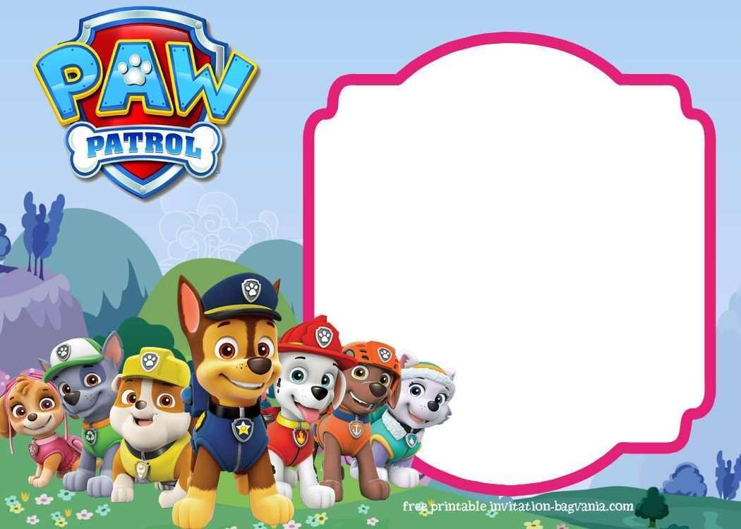 Paw Patrol Birthday Invitation Templates Most Complete Bagvania Free Paw Patrol Birthday Invitations Paw Patrol Party Invitations Paw Patrol Invitations