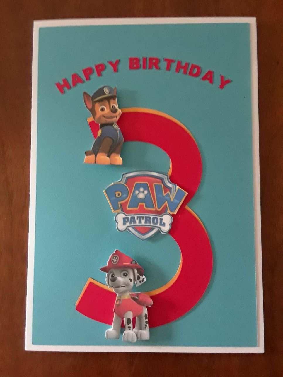 A Paw Patrol Birthday Card Geburtstagskarte Kindergeburtstagskarten Einladungskarten Kindergeburtstag